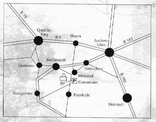 Die Lage von Burg Falkenstein