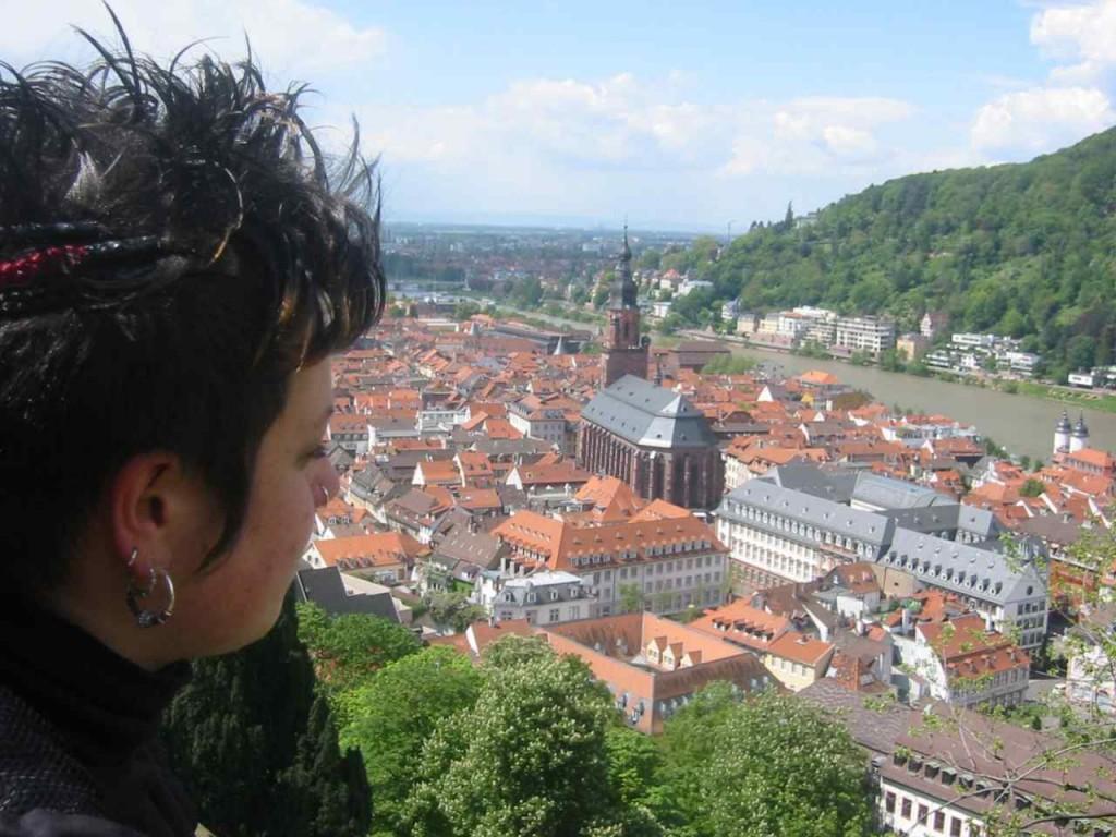 Die berühmte Aussicht vom Schloss auf Heidelberg.
