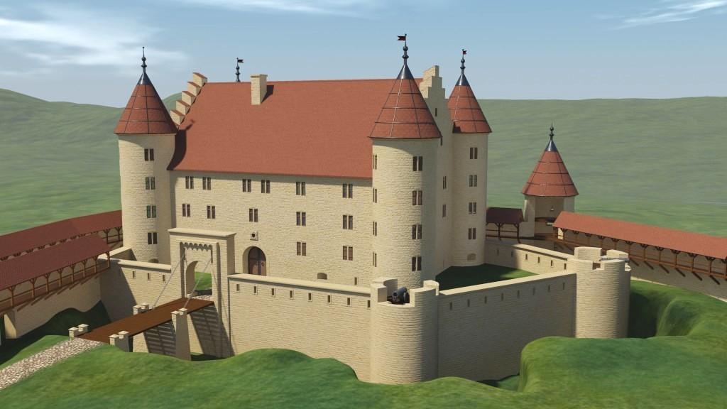 Computermodell der Honburg in Tuttlingen / Bild: Screenshot