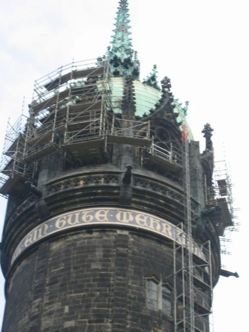 Der Turm der Schlosskirche überragt Wittenberg / Fotos: Burgerbe.de