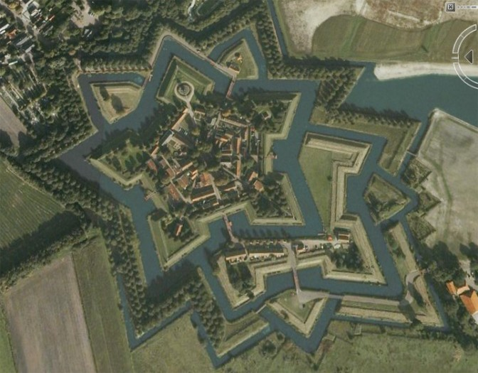 Die Festung Bourtange / Screenshot: Google Earth