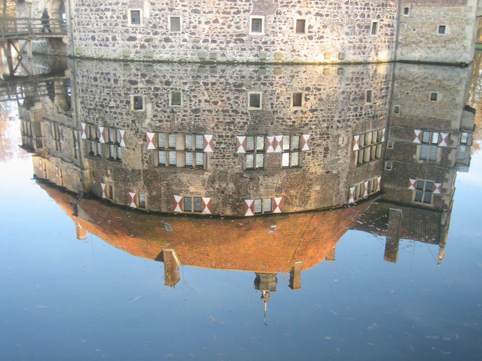 Burg Vischering spiegeld sich...