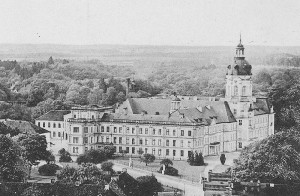 Schloss Neustrelitz: Postkarte um 1900 / Die Ruine wurde 1949 gesprengt / Foto: Public Domain