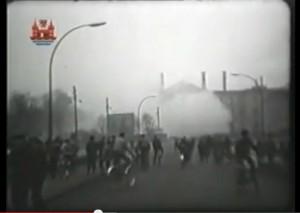 Sprengung der Ruine von Schloss Schwedt 1962 / Bild: Screenshot Youtube