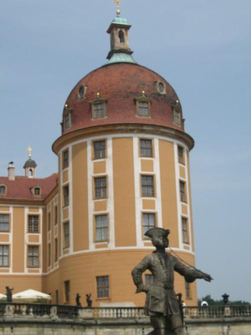 Schloss Moritzburg: Stattliche Türme.