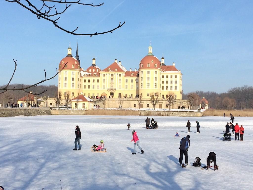 Schloss Moritzburg im Winter / Fotos: Burgerbe.de