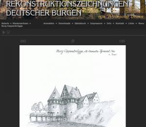 Rekonstruktionszeichnung von Burg Coppenbruegge (heute Ruine im Landkreis Hameln-Pyrmont) / Bild: Screenshot