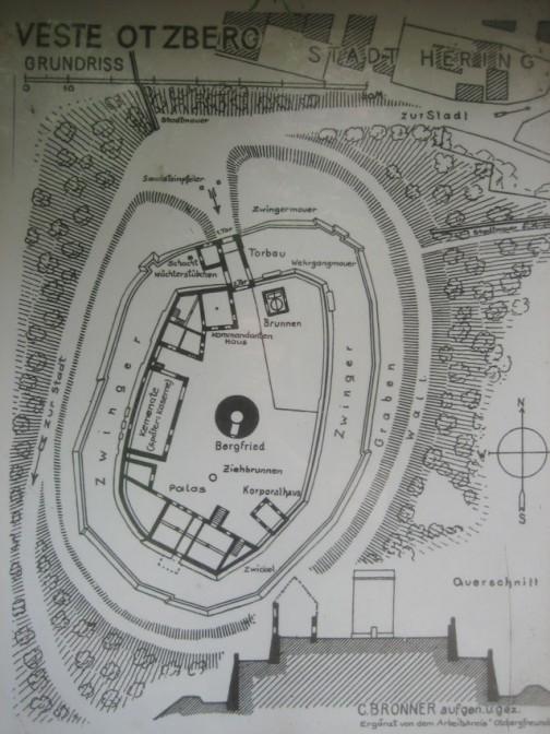Plan der Veste Otzberg
