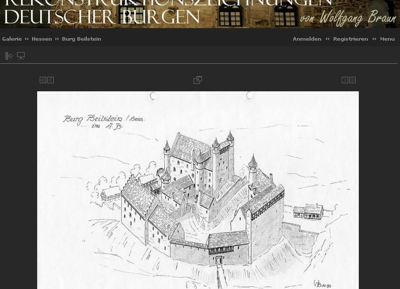 Wolfgang  Braun fertigt detaillierte Rekonstruktionszeichnungen deutscher Burgen / Bild: Screenshot
