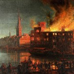 Spektakuläre Brände von Burgen und Schlössern