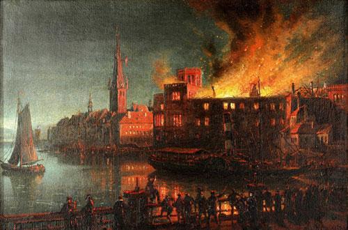 1872: Das Düsseldorfer Schloss brennt