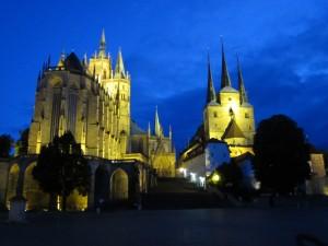 Der Erfurter Dom. Geschah der Latrinensturz ganz in der Nähe?