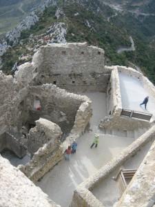 Die Reste von Chateau Queribis