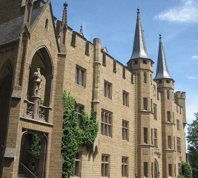 Innenhof der Burg Hohenzollern
