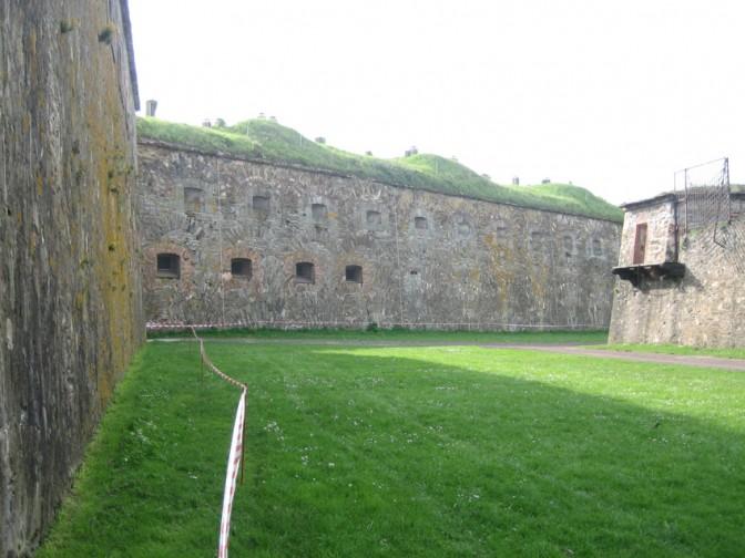 Wälle der Festung.