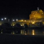 Burgenfotos im nächtlichen Scheinwerferlicht