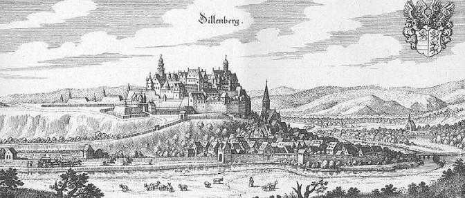 Schloss Dillenburg 1655 (Bild: Wikipedia/Merian)