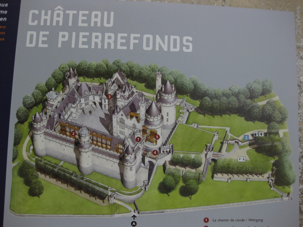 Plan vom Chateau de Pierrefonds