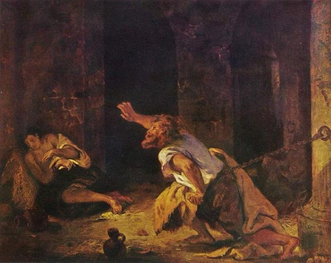 Eugene Delacroix - Der Gefangene von Chillon (Wikipedia/gemeinfrei)