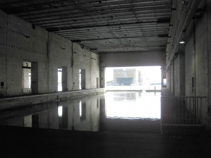 St. Nazaire: Eines der U-Boot-Becken