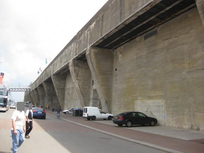 Die Landseite des U-Boot-Bunkers