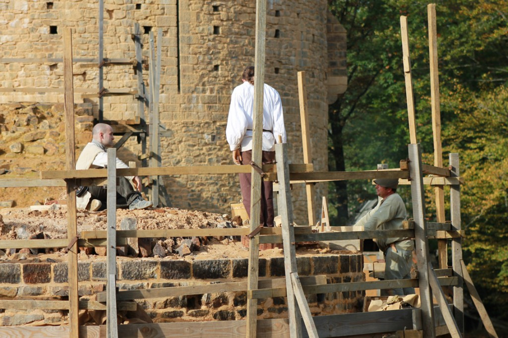Die Burgbaustelle Guedelon
