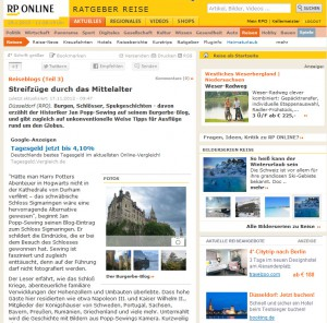 Screenshot der RP-Online-Seite