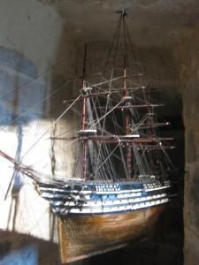 Schiffsmodell im Marinemuseum