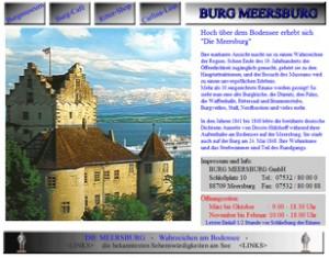 Mit antiquarischem Charme: Die Meersburg-Homepage