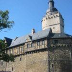 Bauarbeiten auf Burg Falkenstein
