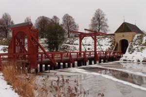 Zugbrücke vor dem Haupttor der Festung Bourtange