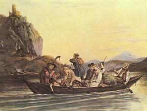Adrian Ludwig Richter: Überfahrt am Schreckenstein (1837). Foto: Yorck-Project/Public Domain