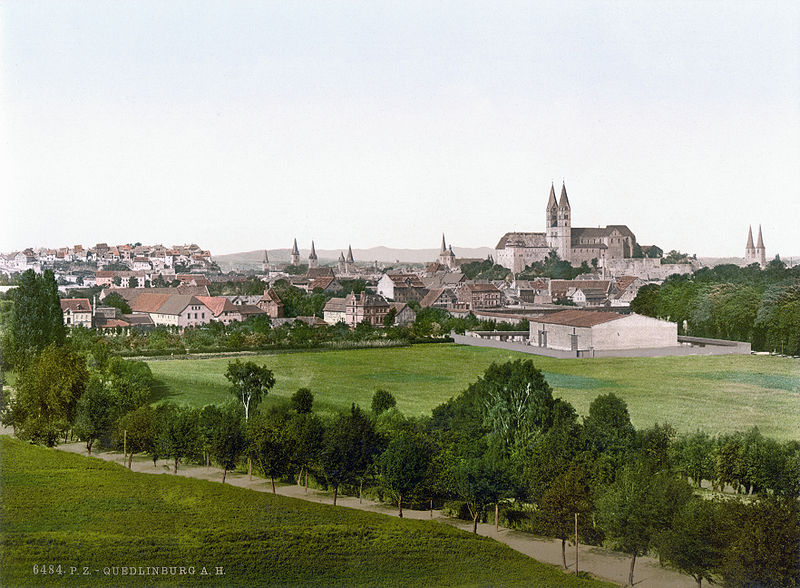 Quedlinburg um 1900 / Bild: Wikipedia/Library of Congress