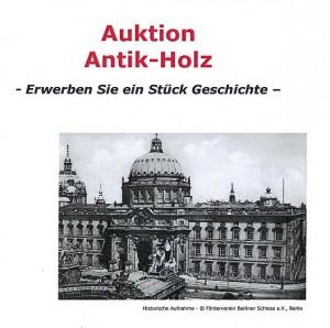 Die Titelseite des PDF zur Berliner Schloss-Holz-Auktion / Bild: Screenshot