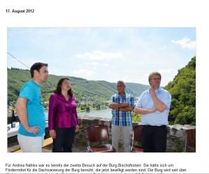 SPD-Generalsekretärin Angela Nahles auf Burg Bischofstein