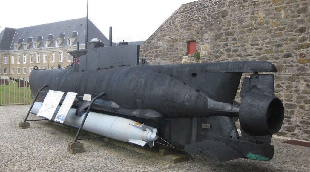 Kleinst-U-Boot Seehund im Marinemuseum Chateau Brest / Foto: Burgerbe.de