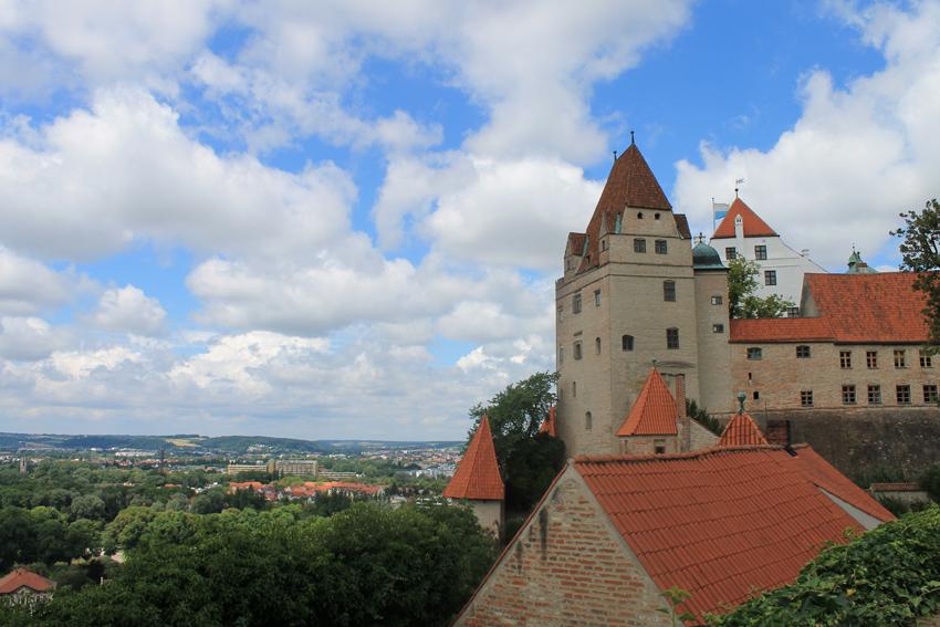 Burg Trausnitz: Nach Großbrand wieder aufgebaut