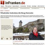 Ärger um Windräder vor Burg Zwernitz