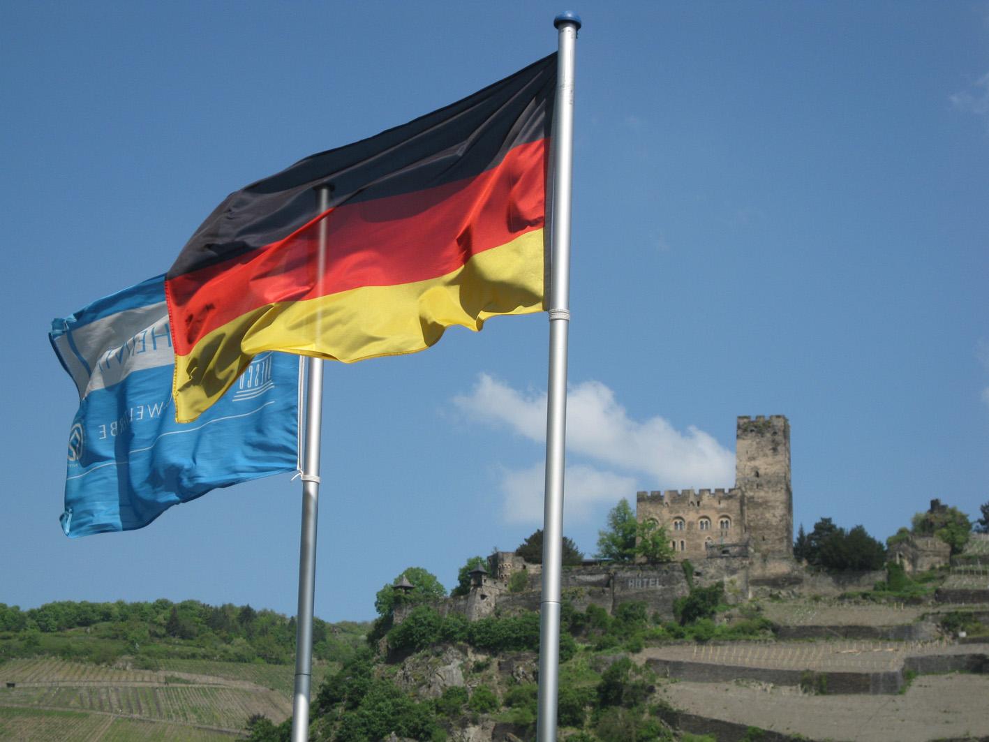 Burg Gutenfels von Burg Pfalzgrafenstein aus gesehen