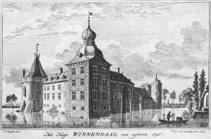 Burg Winnenthal (Winnendaal) 1746 noch mit Barock-Turmhaube / Foto: Wikipedia/Public domain