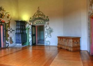Im Inneren von Schloss Wilhelmsburg sind noch viele Wandmalereien erhalten / Foto: Wikipedia/Karl-Heinz Meurer. Lizensiert unter GFDL.