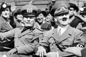 Diktatorenfreunde mit Vorliebe für Bunker: Mussolini und Hitler / Foto: Wikipedia / Bundesarchiv / CC-BY-SA-3.0-DE