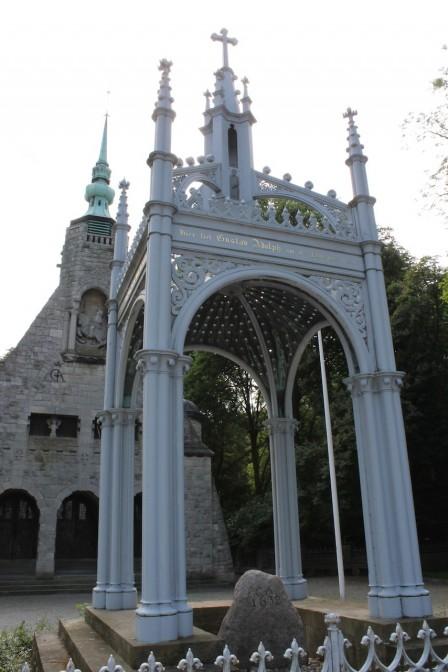 Denkmal am Ort, wo Gustav Adolf gestorben sein soll / Foto: Burgerbe.de