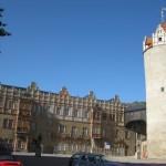 Der Eulenspiegelturm von Schloss Bernburg an der Saale