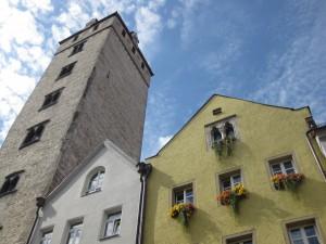 Der Goldene Turm in Regensburg. Der höchste Geschlechterturm nördlich der Alpen.