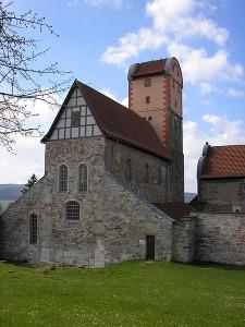 Die Klosterkirche auf dem Gelände von Schloss Breitungen