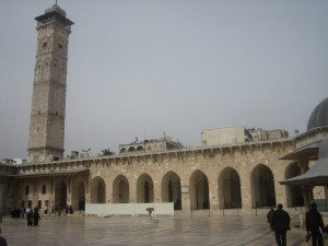 Das Minarett aus der Frühzeit des Islam überragte die Omajjaden-Moschee in Aleppo / Foto: Burgerbe.de