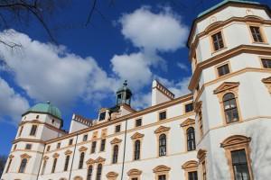 Residenzschloss Celle an einem sonnigen Frühlingstag...