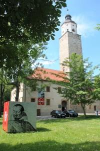 Das Museum im Schloss Lützen beschäftigt sich unter andere mit der Schlacht von 1632