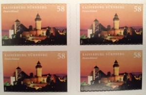Brefmarkenblock mit der Kaiserburg Nürnberg
